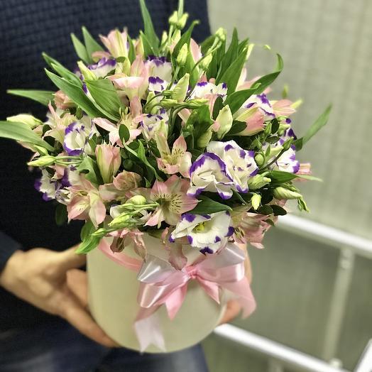 Микс из эустом и альстромерий: букеты цветов на заказ Flowwow