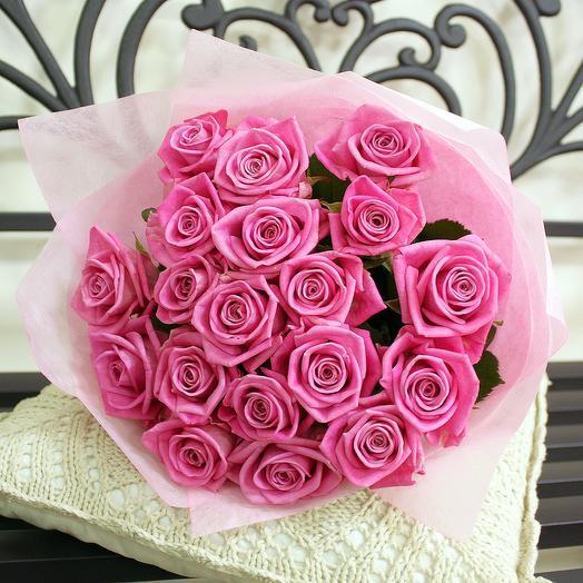 Букет розовых роз: букеты цветов на заказ Flowwow