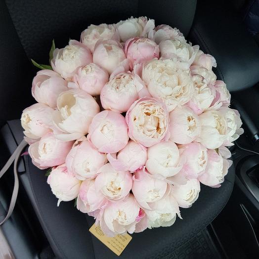 Пионы гардении букет, розы вологда