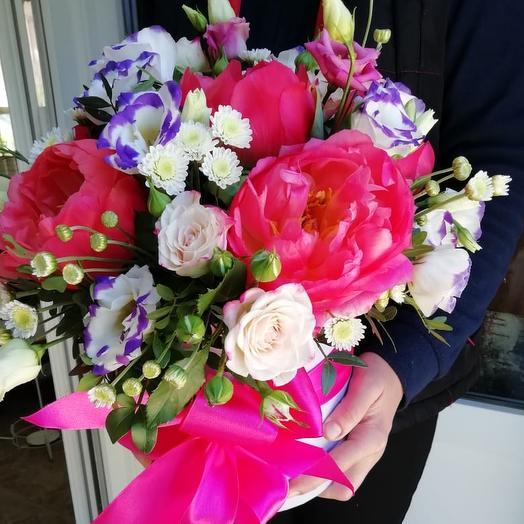"""""""Пионовое счастье"""": букеты цветов на заказ Flowwow"""
