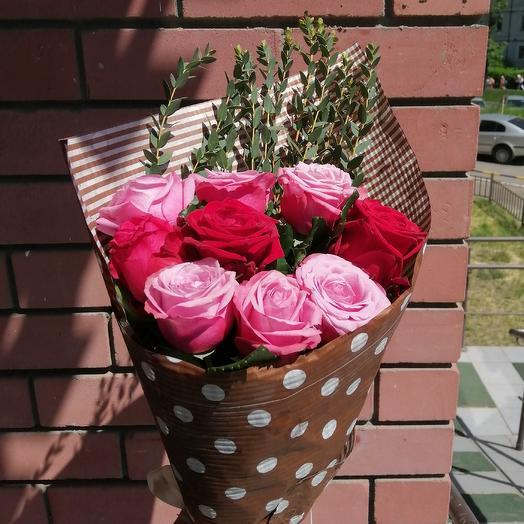 9 роз микс: букеты цветов на заказ Flowwow