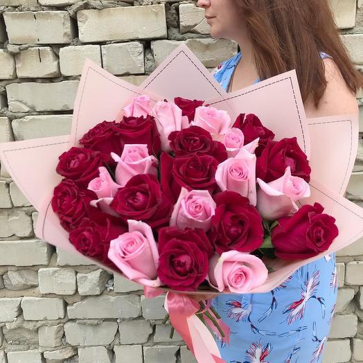 """Букет из 25 роз """"One LOVE"""": букеты цветов на заказ Flowwow"""