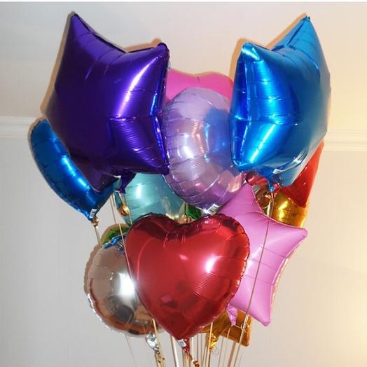 Фонтан из 13 фольгированных шаров: букеты цветов на заказ Flowwow