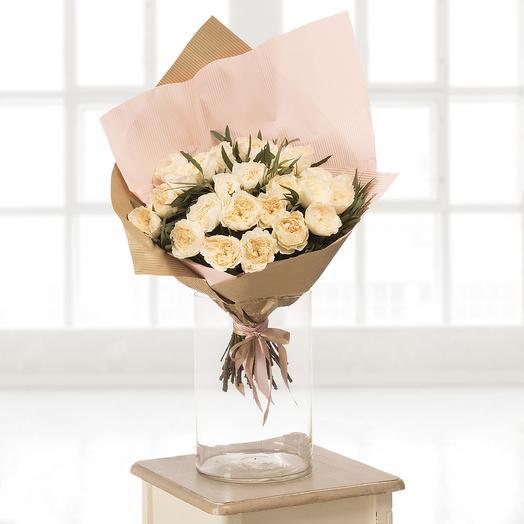 Букет из 25 пионовидных роз: букеты цветов на заказ Flowwow