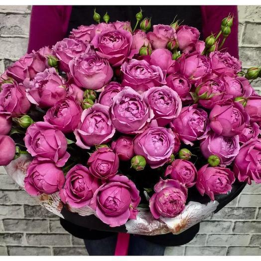 Букет пионовидных роз 75 шт: букеты цветов на заказ Flowwow