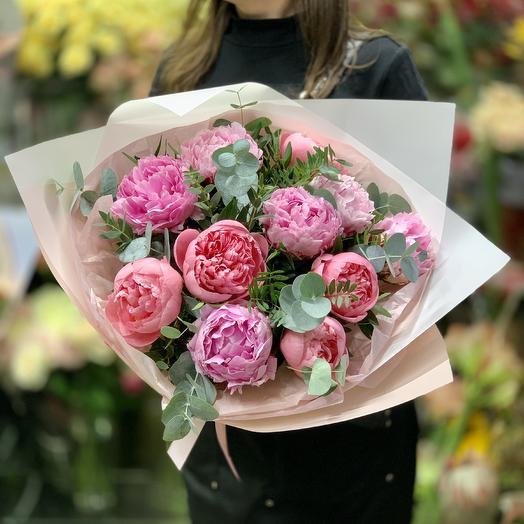 Пионовое наслаждение: букеты цветов на заказ Flowwow