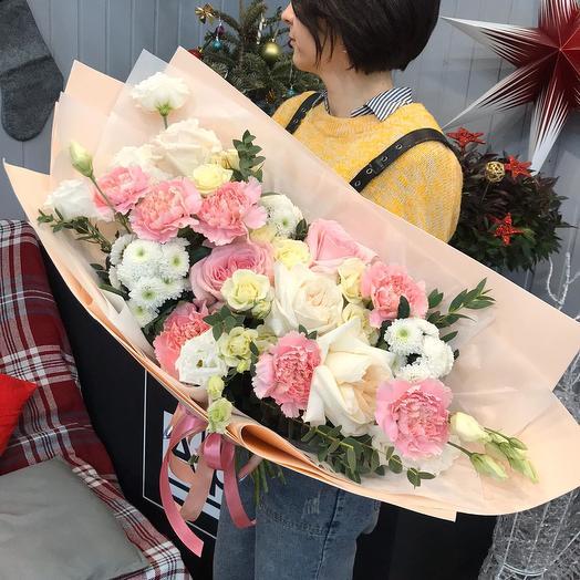 """Сборный букет """"Зефирный"""": букеты цветов на заказ Flowwow"""