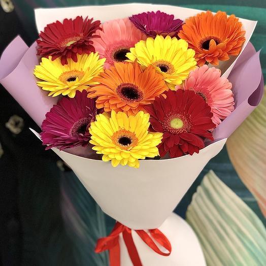 Букет «Благородная гербера»: букеты цветов на заказ Flowwow