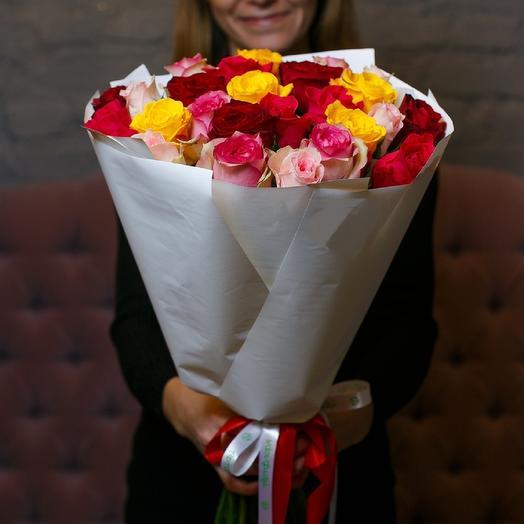 Букет из 25 роз микс: букеты цветов на заказ Flowwow