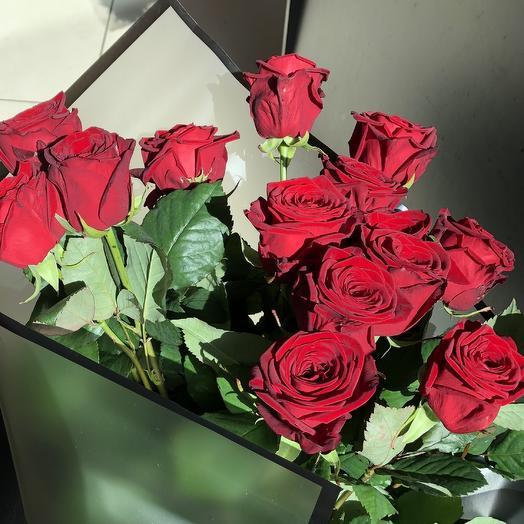 Розы 15 штук в гламурной упаковке