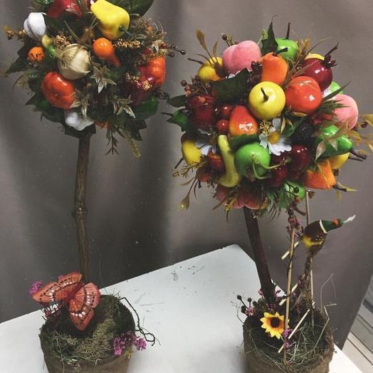 Топиарий из искусственных овощей и фруктов
