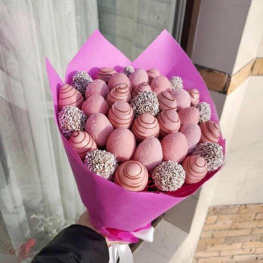 Букет из клубники в шоколаде «Барби»