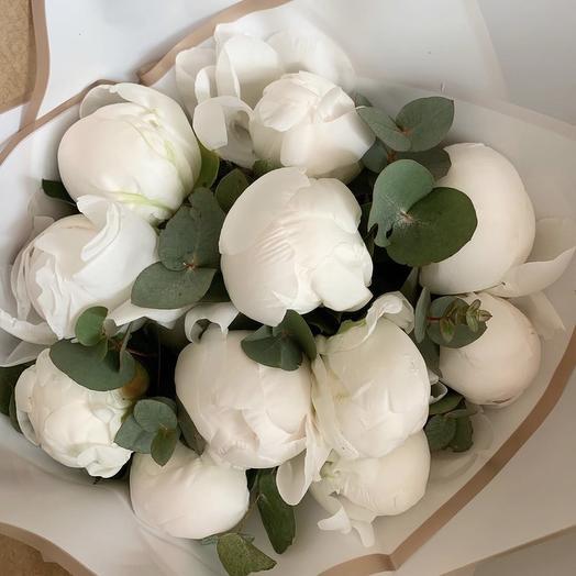 Белые пионы: букеты цветов на заказ Flowwow