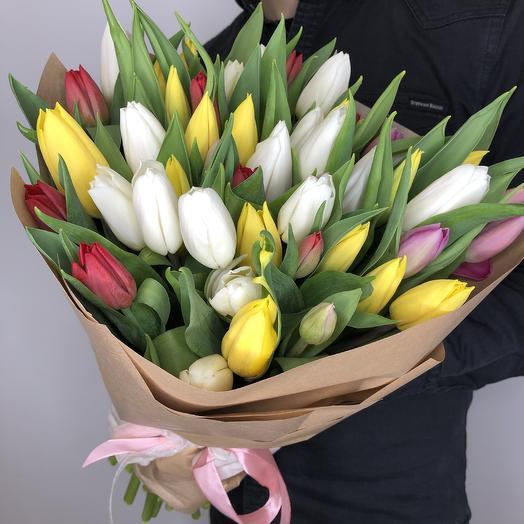 TOP 49 Тюльпанов: букеты цветов на заказ Flowwow