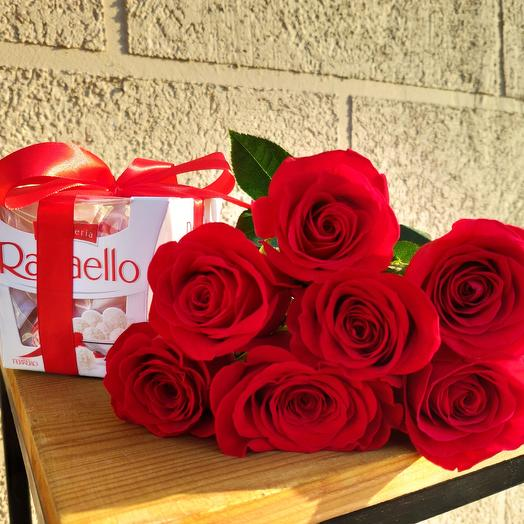 7 roses and chocolates