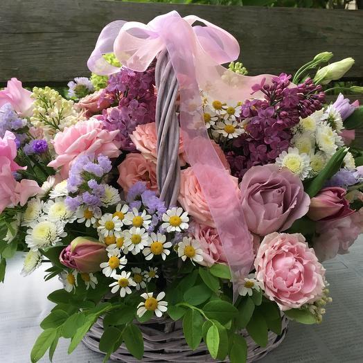 Корзина «Романтичный розовый»