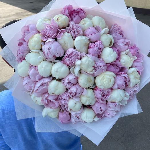 Букет из 55 пионов: букеты цветов на заказ Flowwow