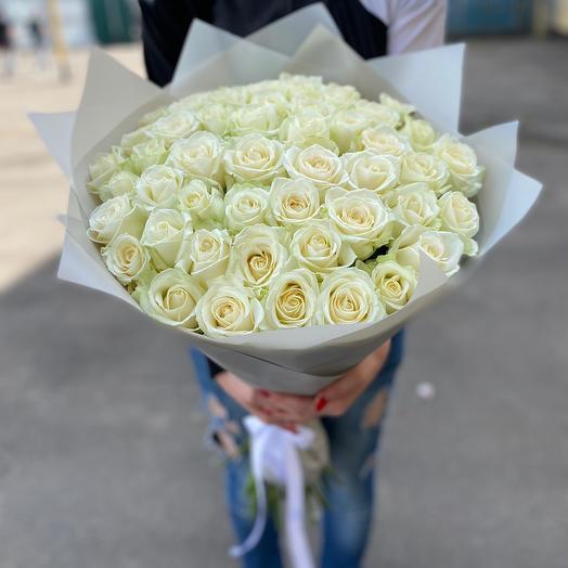Букет из 51 розы Аваланж (60см)
