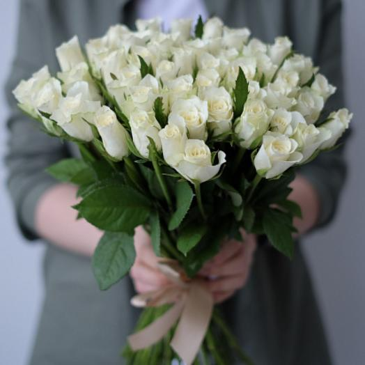 Букет из 51 розы Кении 40 см Стандарт
