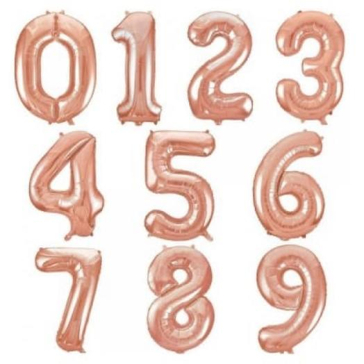 Шар - цифра «Розовое золото»