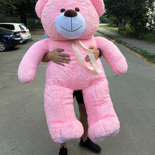 Плюшевый мишка 160 см розовый