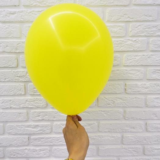 7 Желтый Гелиевый шар пастель 30см с обработкой