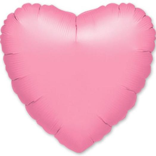 "Шар с гелием сердце 18""/46 см розовый"