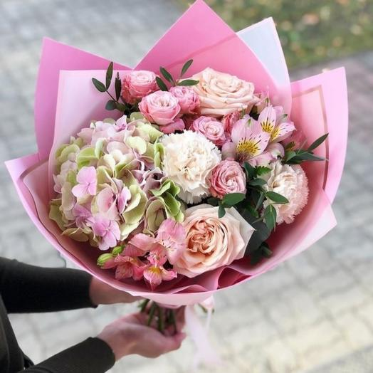 Букет Розовый шёлк