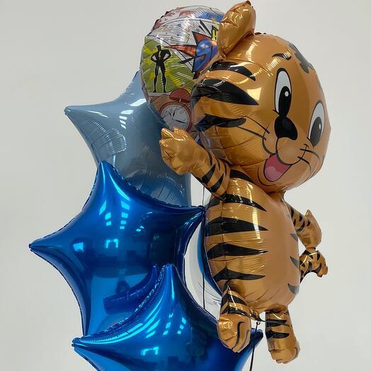 Набор шаров на День рождения с Тигрёнком