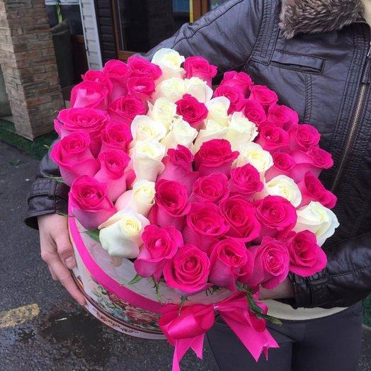 Коробка роз Афродита
