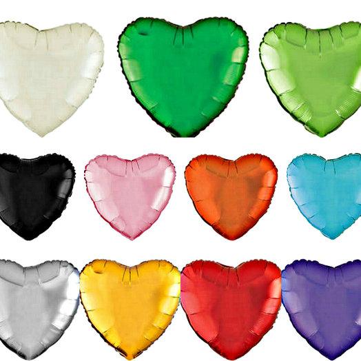 Фольгированные сердца 45 см, 10 шт разноцветные: букеты цветов на заказ Flowwow