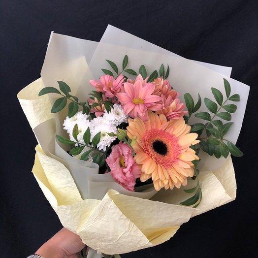 Гербера и хризантемы: букеты цветов на заказ Flowwow