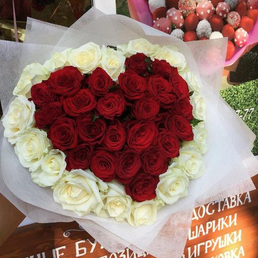 Ароматное сердце: букеты цветов на заказ Flowwow