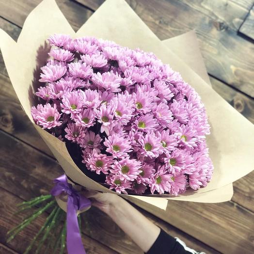 Букет из 11 розовых хризантем: букеты цветов на заказ Flowwow