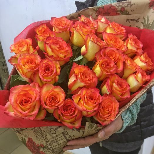 Букет красивых роз: букеты цветов на заказ Flowwow
