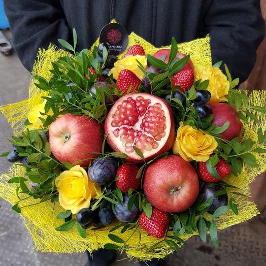 Гранатовый букет: букеты цветов на заказ Flowwow