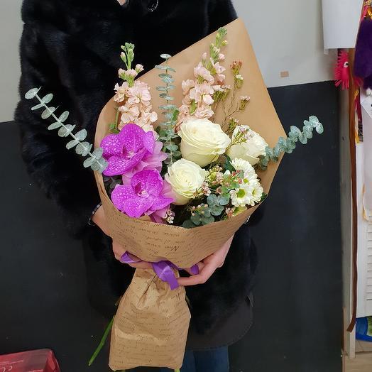Кулечек радости: букеты цветов на заказ Flowwow