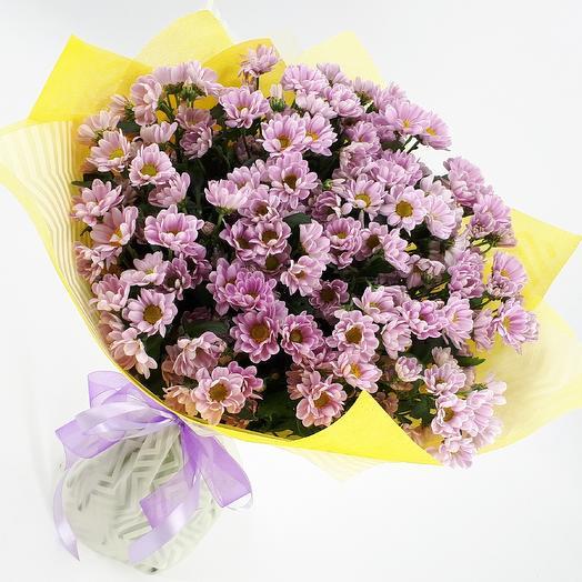 Розовые ромашки: букеты цветов на заказ Flowwow