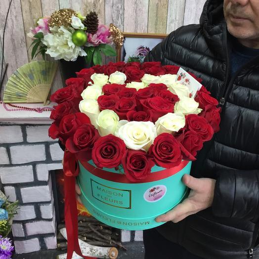 Коробка Сердце Милсон: букеты цветов на заказ Flowwow