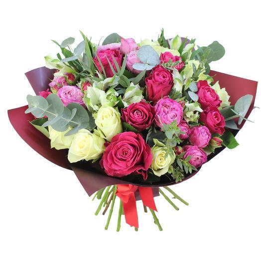 "Букет из кустовых роз ""Марсала"": букеты цветов на заказ Flowwow"