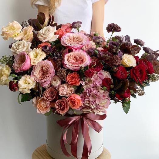 Бордовый закат: букеты цветов на заказ Flowwow
