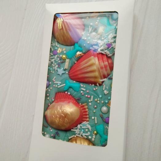 Шоколад ручной работы «Рыбки»: букеты цветов на заказ Flowwow