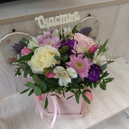 "Коробочка ""Дарите счастье"": букеты цветов на заказ Flowwow"