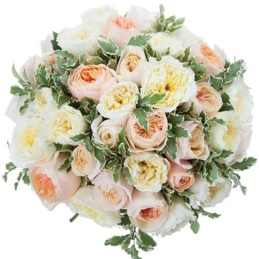 51 английская роза: букеты цветов на заказ Flowwow