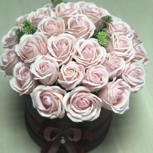 Букет из мыльных роз премиум