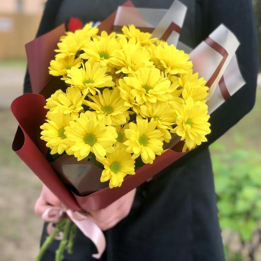 букет из 7 хризантем