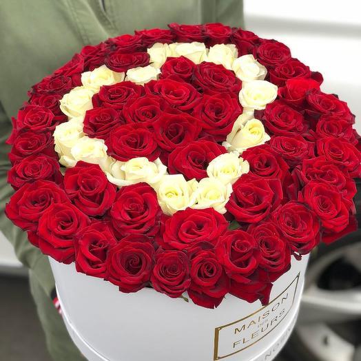Коробка сердца: букеты цветов на заказ Flowwow