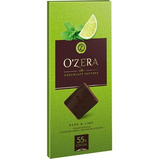Шоколад горький с экстрактами лайма и мяты ozera dark   lime, 100 г