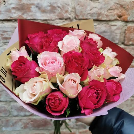 Роза кенийская микс 21 шт