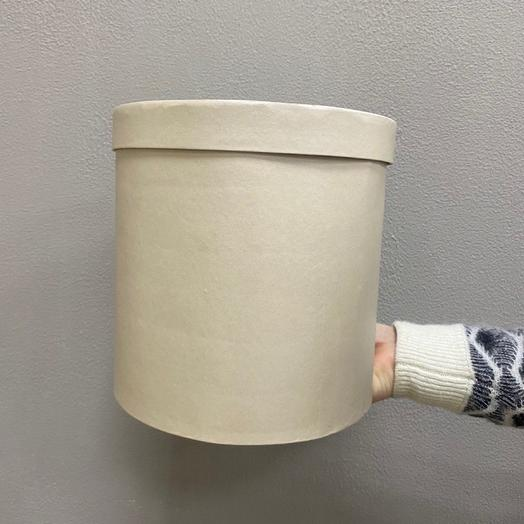 Шляпная коробка большая (Бежево-золотая)
